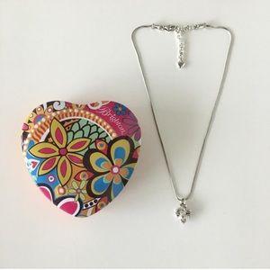 Brighton Jewelry - Brighton Silver Cross Reversible Necklace